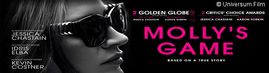 Molly's Game - Ab August auf DVD und Blu-ray